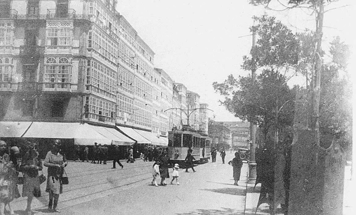 Avenida Da Marina Fotografía Antigua Fotos Antiguas A Coruña