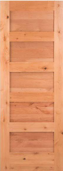 5 Panel Flat Shaker Knotty Alder Stain Grade Solid Core Interior Wood Door Doors