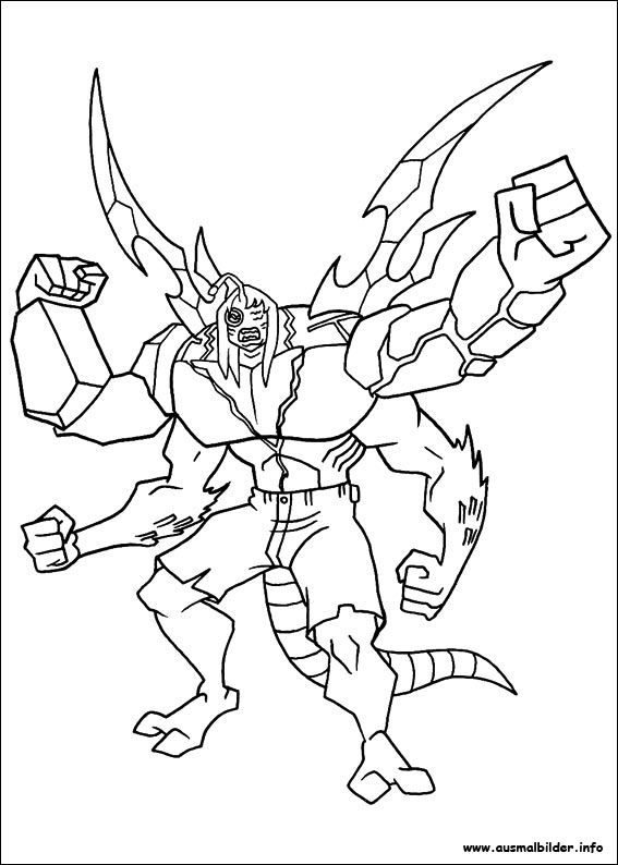 Ausmalbilder Ben 10 2 01 Unicorn Coloring Pages Ben 10 Coloring Books