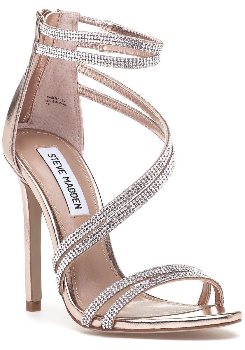 aa5202c9f4b2 STEVE MADDEN - SWEETEST SANDALS Gold High Heel Sandals