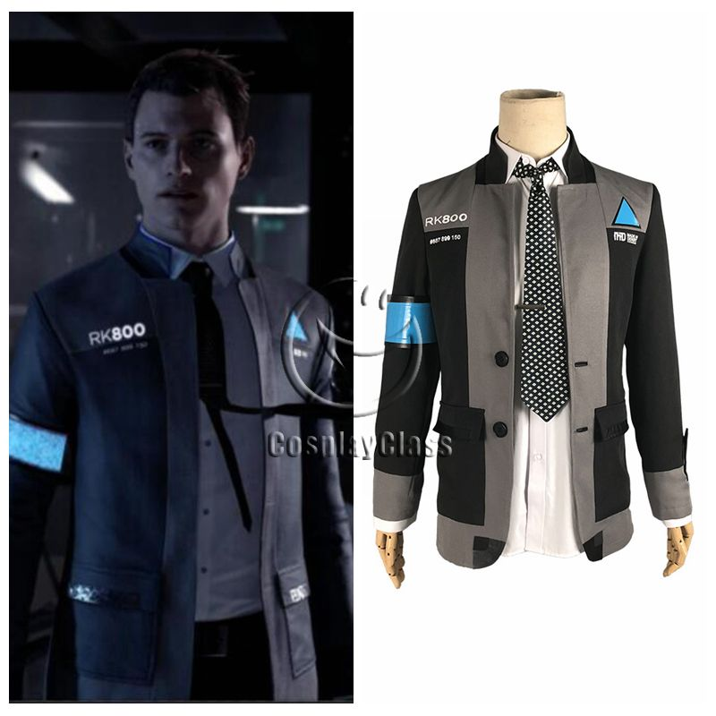 Become Human Markus RK200 Cosplay Costume Casual Coat Uniform Fashion Detroit