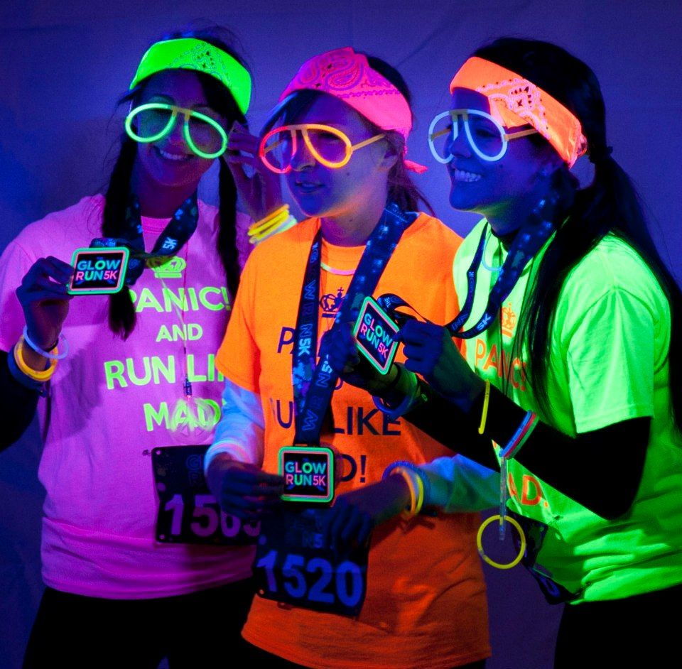 Sooo excited to do the glow run June 29, With Erica