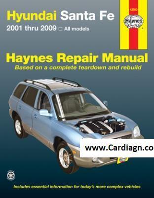 2001 2009 Hyundai Sante Fe Haynes Repair Manual Repair Manuals Hyundai Santa Fe Automotive Repair