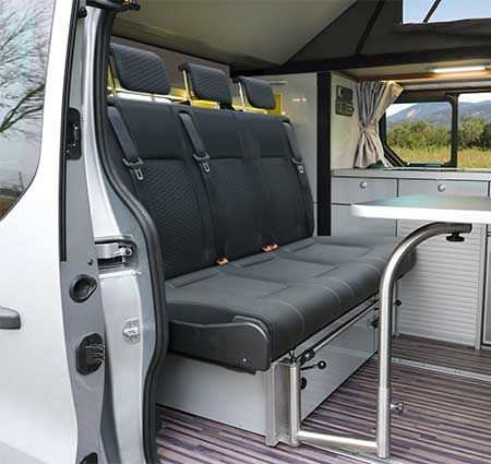 camper triostyle on renault trafic opel vivaro from 2014. Black Bedroom Furniture Sets. Home Design Ideas