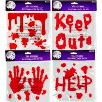 bulk bloody gel window clings at dollartreecom - Window Clings Halloween