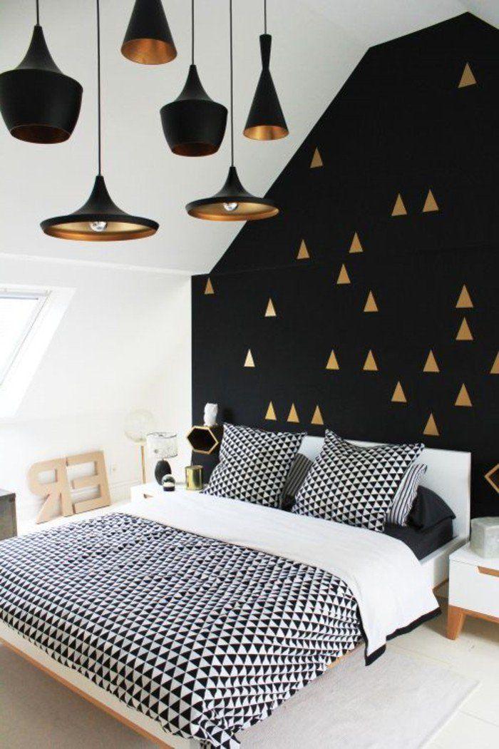 Chambre coucher tumblr en noir blanc