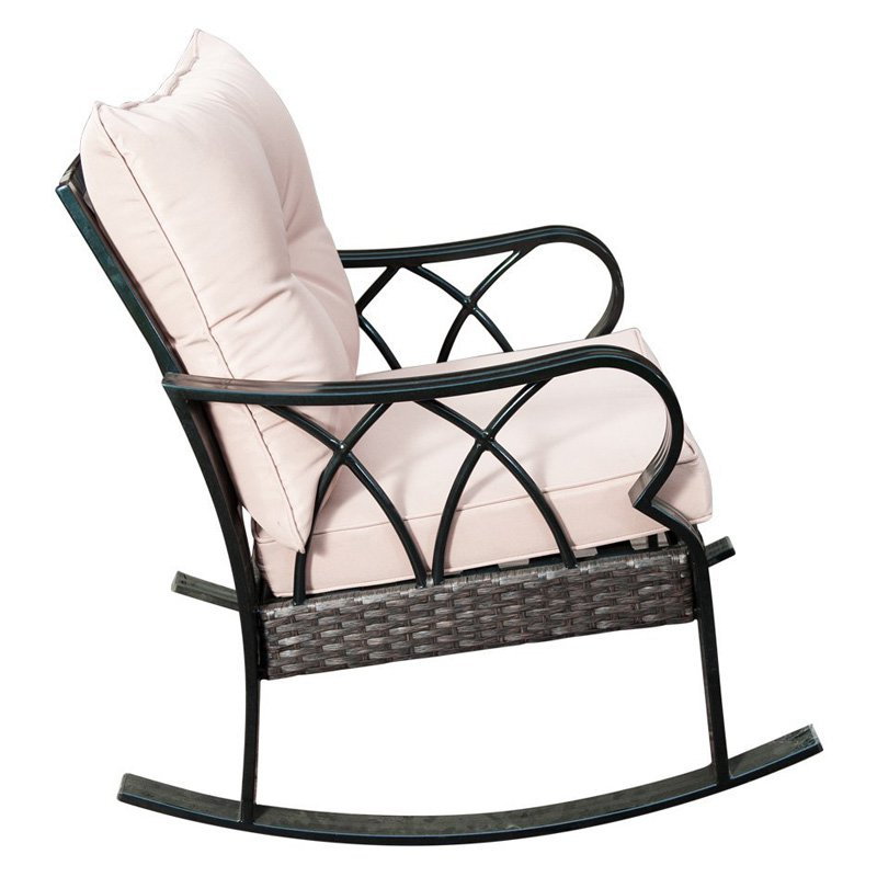 outdoor sunlife garden cafe wicker patio rocking chair with cushion rh pinterest com