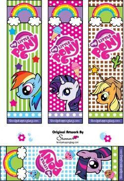 free printable my little pony bookmarks birthdays my little rh pinterest com