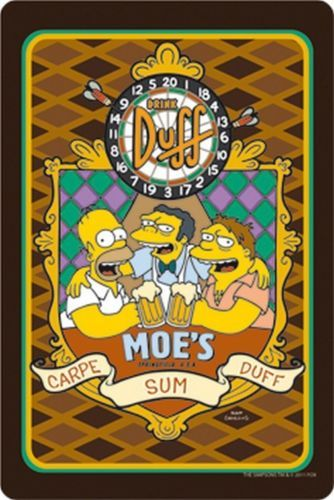 Blechschild S35 The Simpsons Moe S Bar Carpe Sum Duff 20 X 30 Cm Simpsons Kunst Homer Simpson Simpsons Bilder