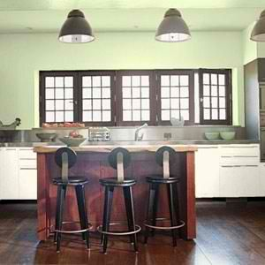 green kitchen paint color idea dark stain on the cabinets with the rh pinterest com