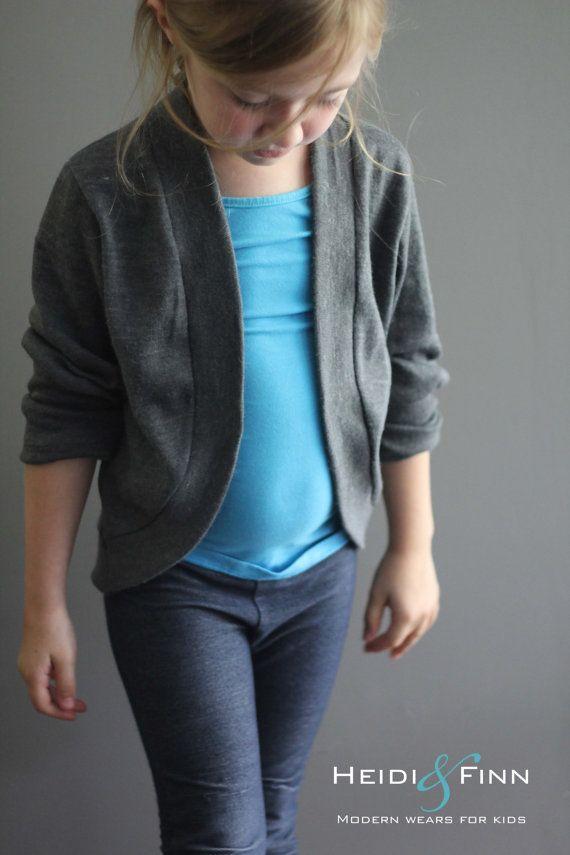 Slouchy Cardigan pattern and tutorial PDF 6y - 12y easy sew sweater ...