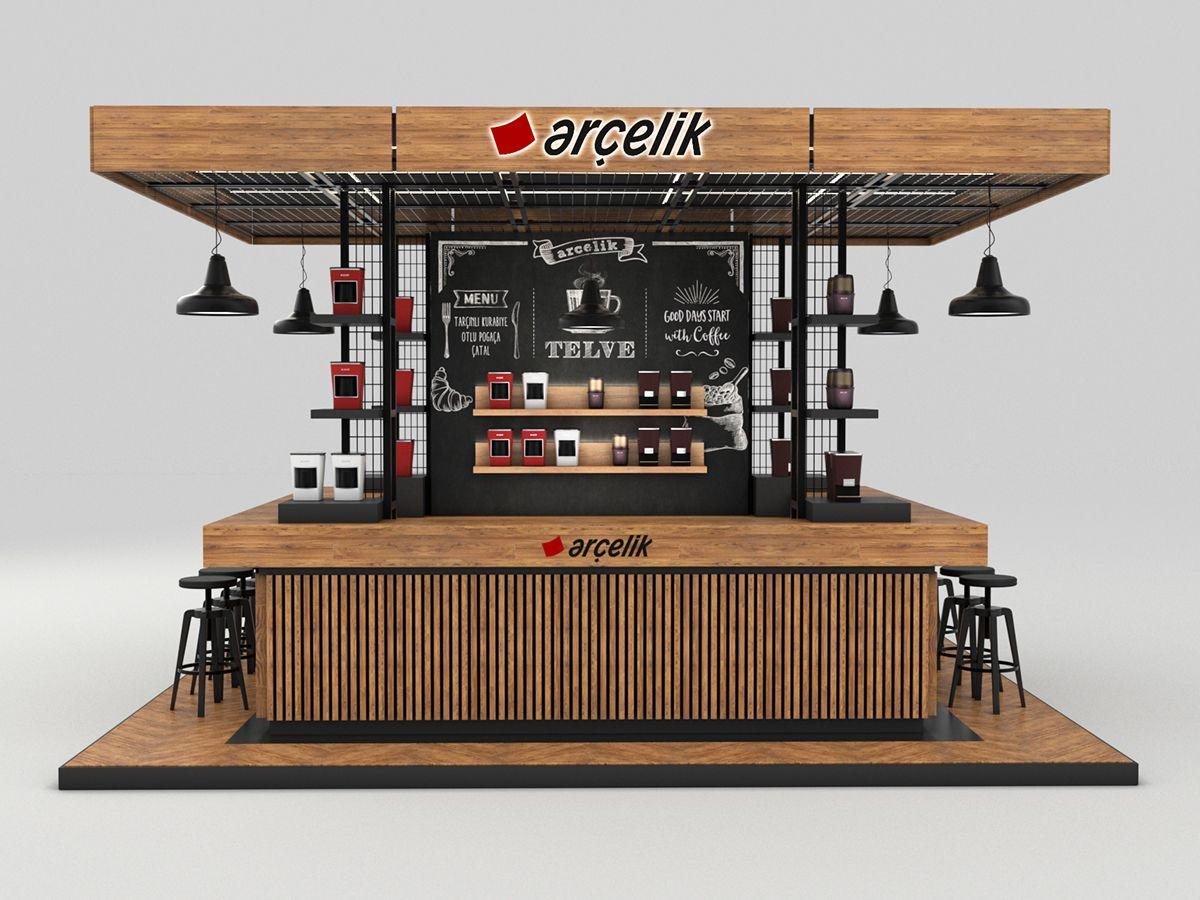 Istanbul Coffee Festival Kiosk Design On Behance Kiosk Design Storefront Design Cafe Shop Design