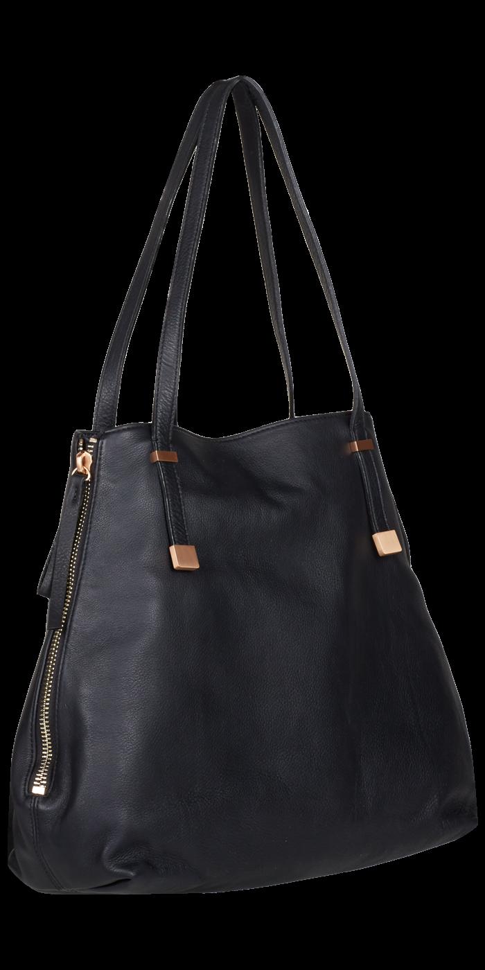Joie E Tote Black Leather Handbag