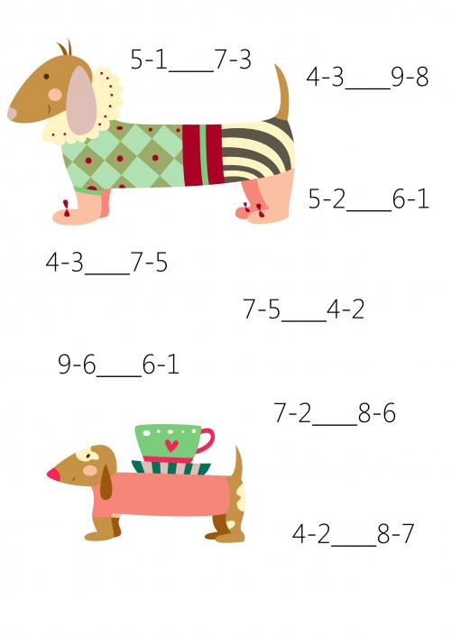 Comparison For 1st Grade 7 Maths Worksheets And Math Worksheets