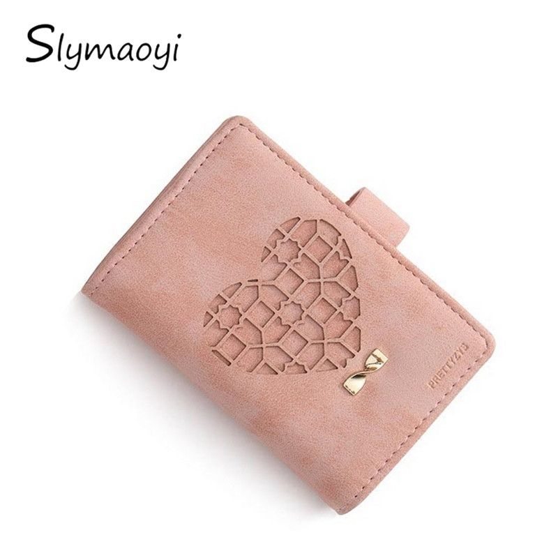 20 Card Slots Matte Pu Leather Women Card Holders Fashion Heart ...