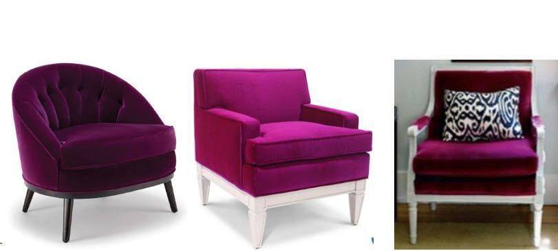 reup my bergere chair in a fun purple or pink velvet