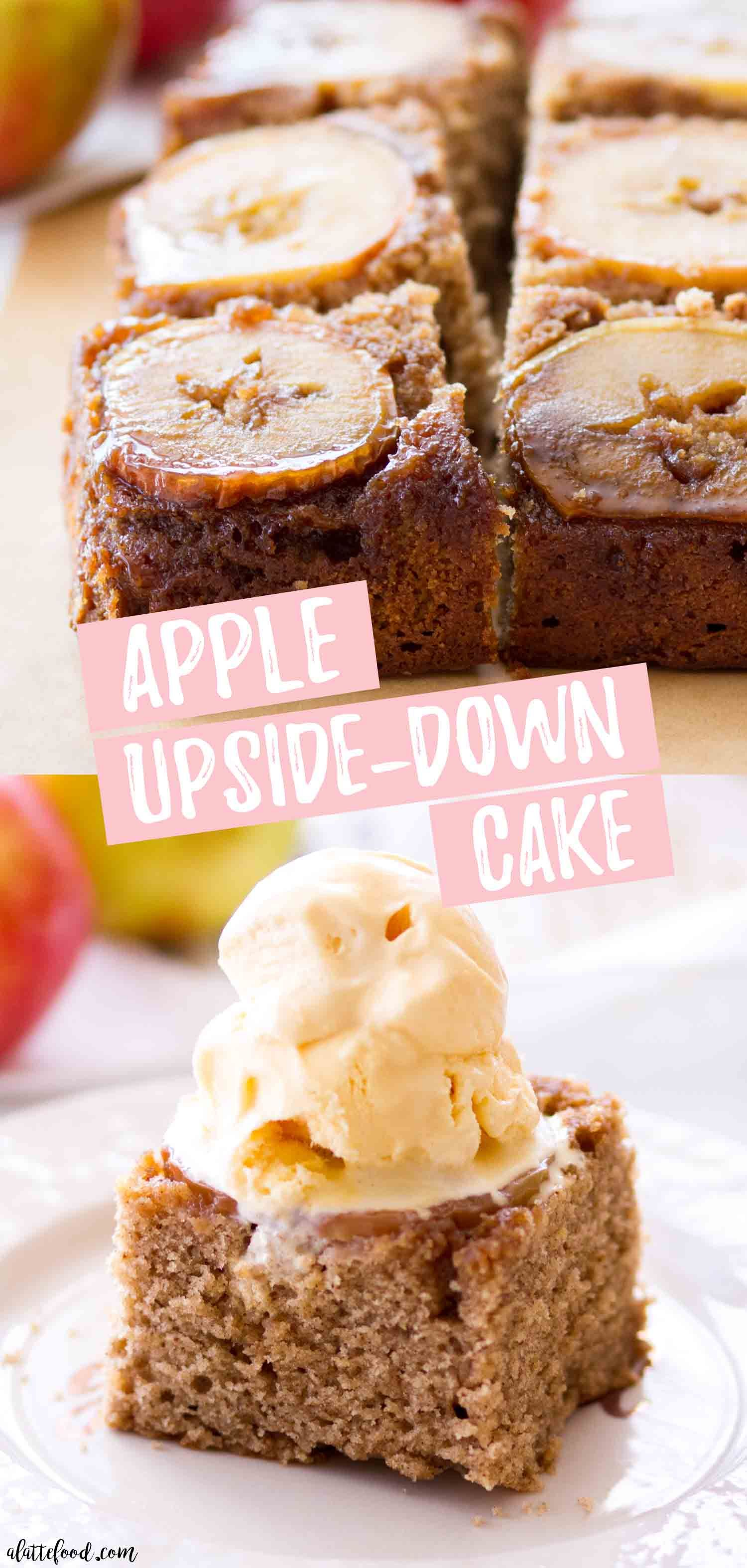 This easy Apple Upside Down Cake Recipe begins with a