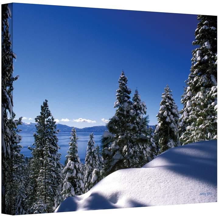 24 x 36 lake tahoe in winter canvas wall art by