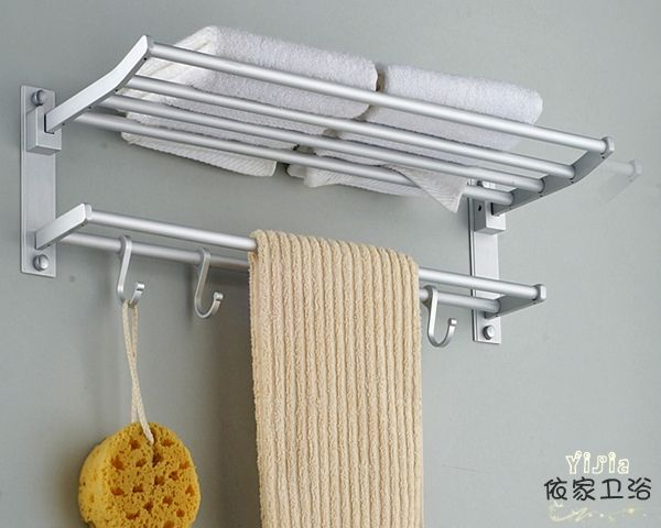 aluminum bathroom double deck towel holder towel rack bathroom shelf ...