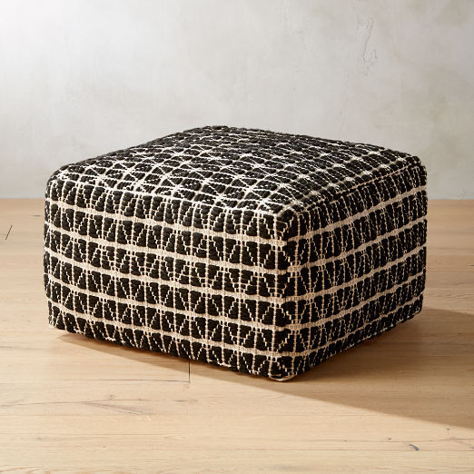 Ottoman Cb2 Search Results Black And White Dining Room Pouf Pouf Seating