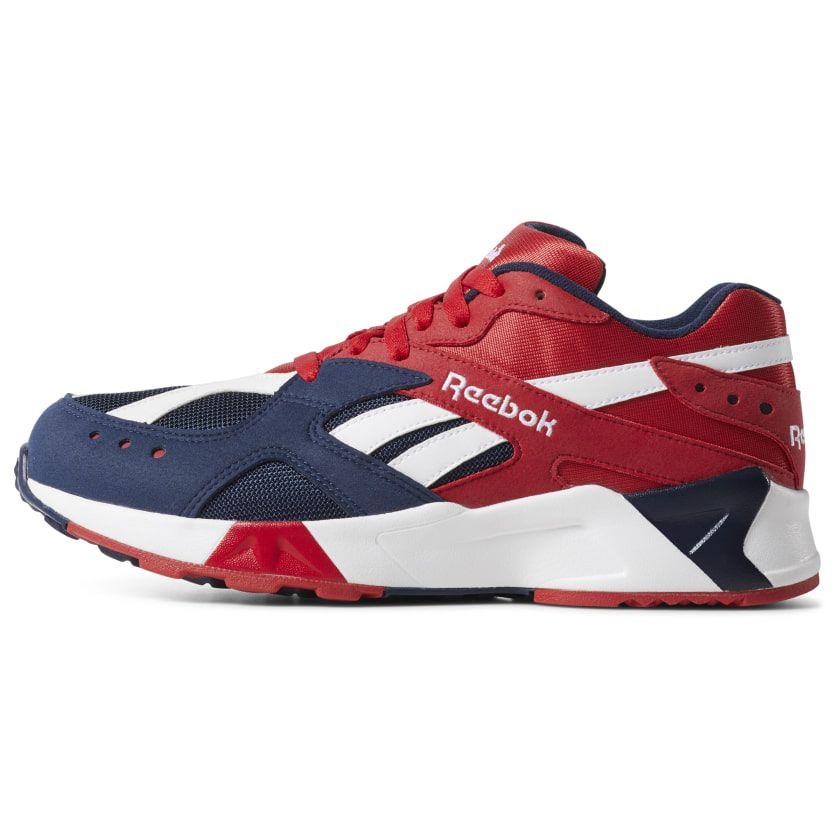 9713d6e672 Reebok Shoes Unisex Aztrek in Collegiate Navy/Red/White Size M 5.5 ...