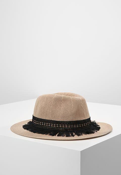 Cappello di paglia con fascia nera ricamata con frange Naf Naf ... 22f822da1a6d