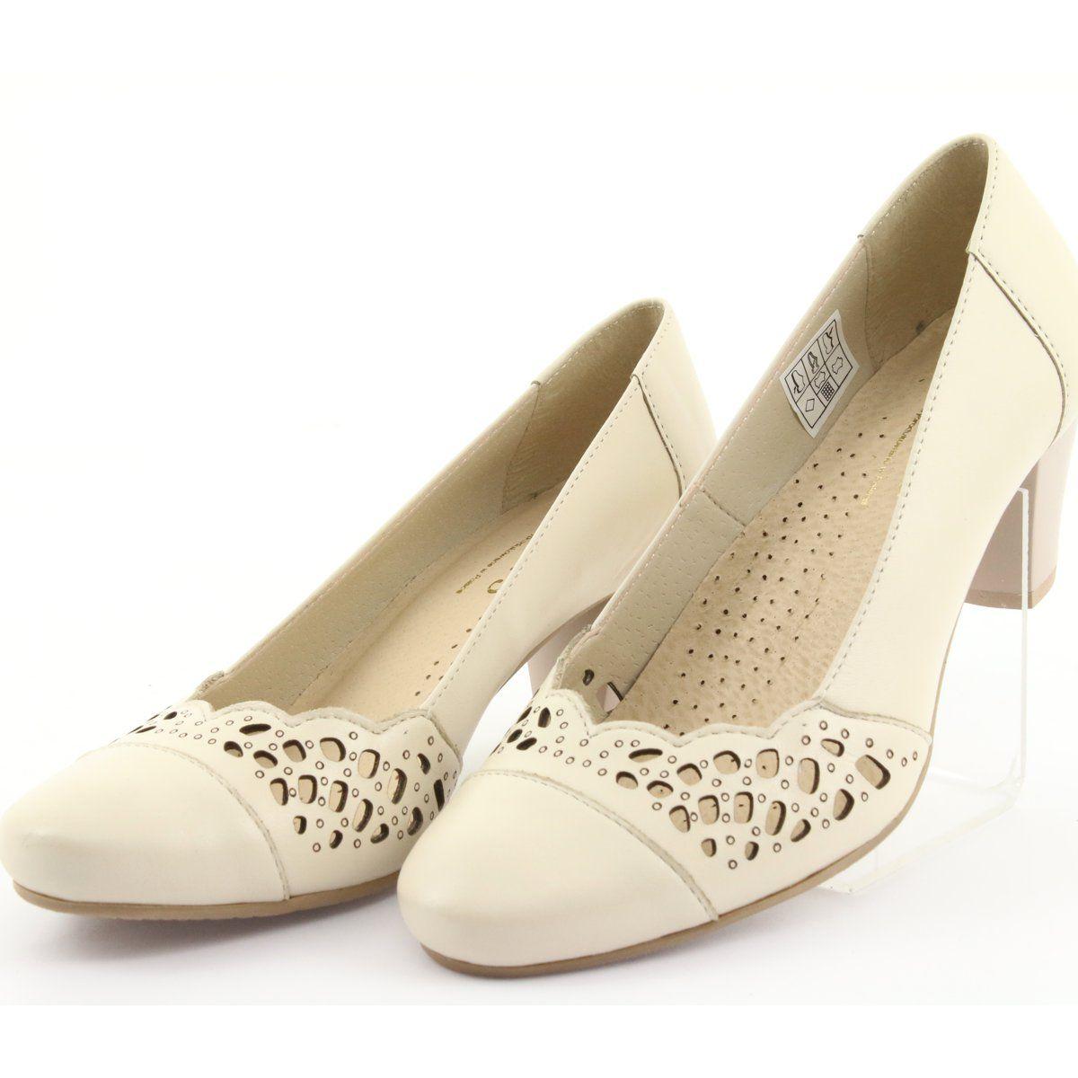 Czolenka Damskie Gregors 745 Bezowe Bezowy Shoes Fashion Flats