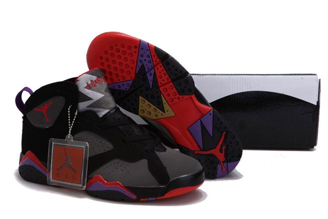 d0e0afbcc570 Suede Jordan 7 Sports Shoe  Red Purple Black Grey Womens (More Choices)