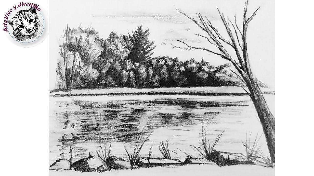 Como Dibujar Un Rio Y Un Bosque Muy Facil Con Lapiz Y Paso A Paso Youtube Dibujo Bosque Cómo Dibujar Dibujos Hermosos A Lapiz