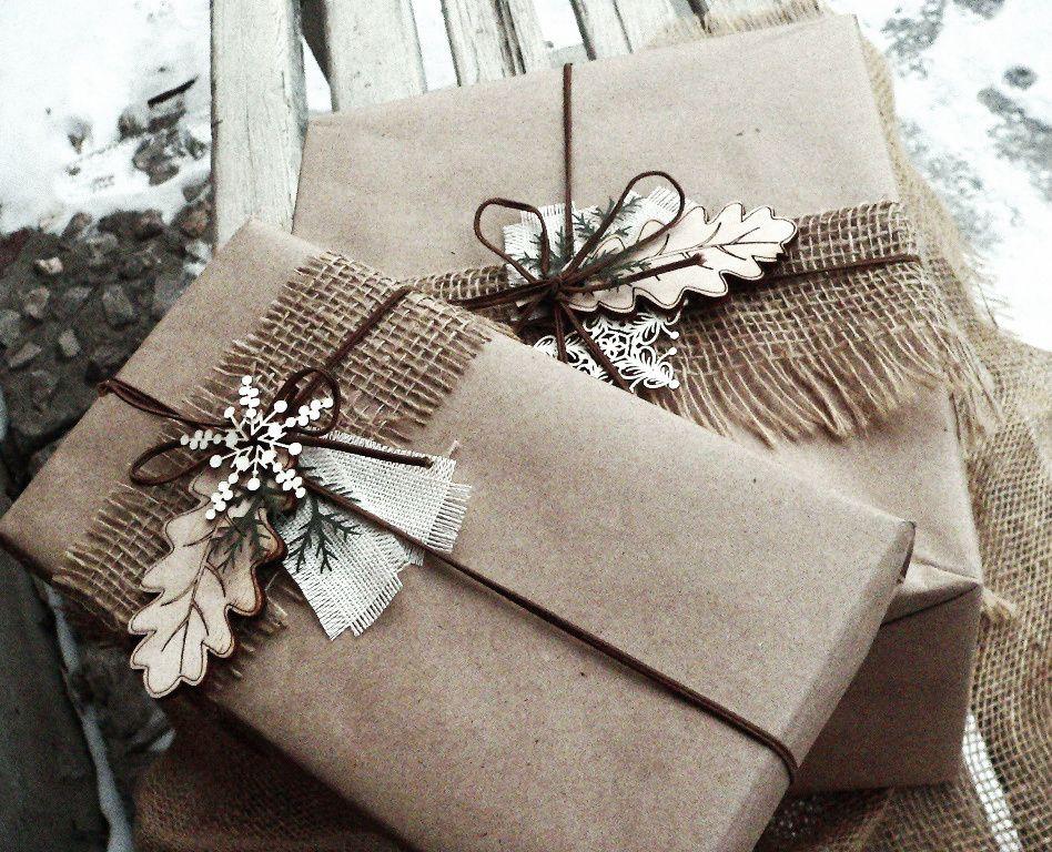 Картинки упаковка подарков из крафт бумаги
