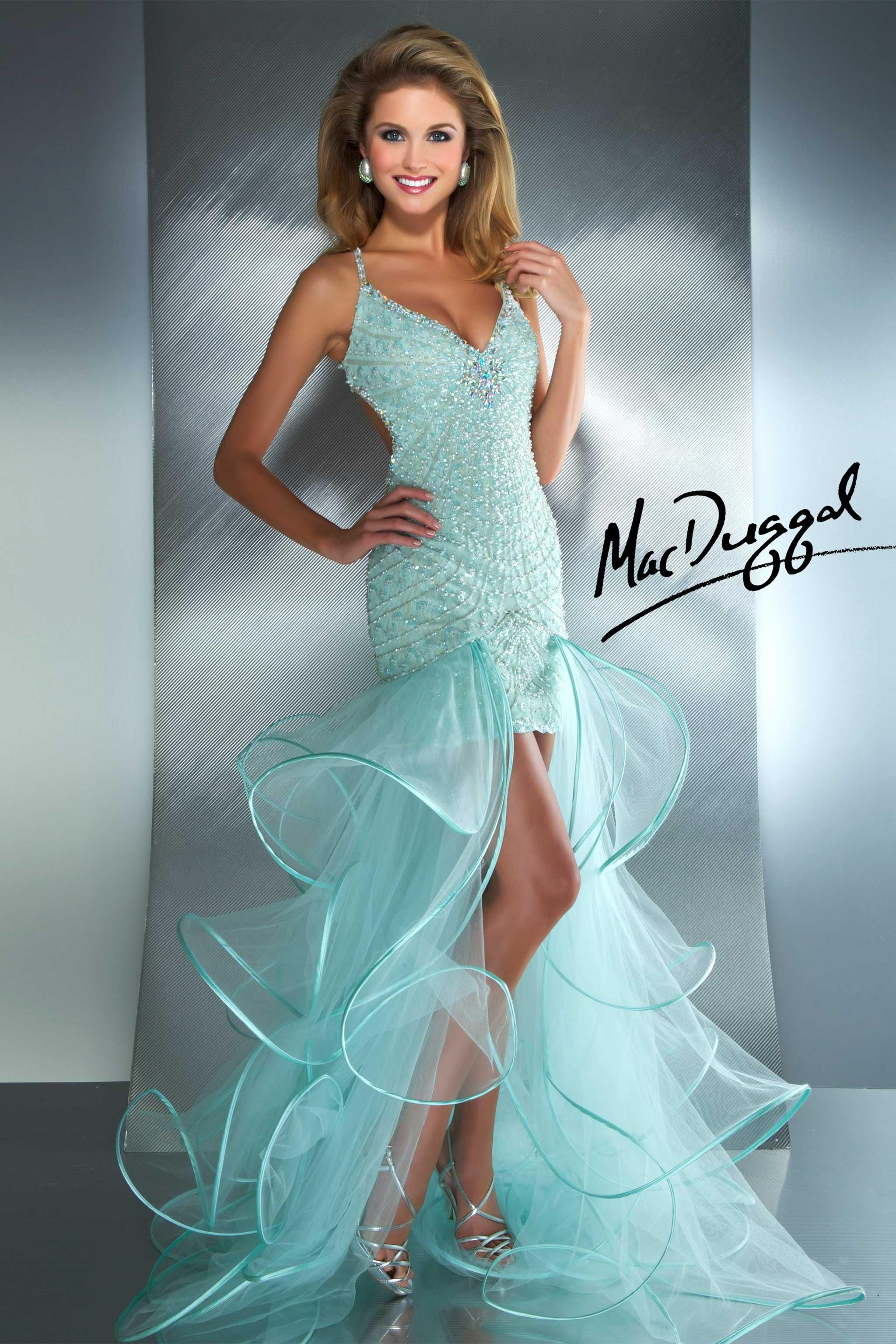 Mint prom dress mac duggal vestidos de fiesta pinterest mint