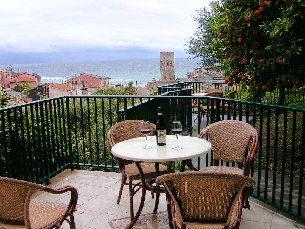 View from Villa Steno in Monterosso al Mare, Cinque Terre, Liguria, Italy