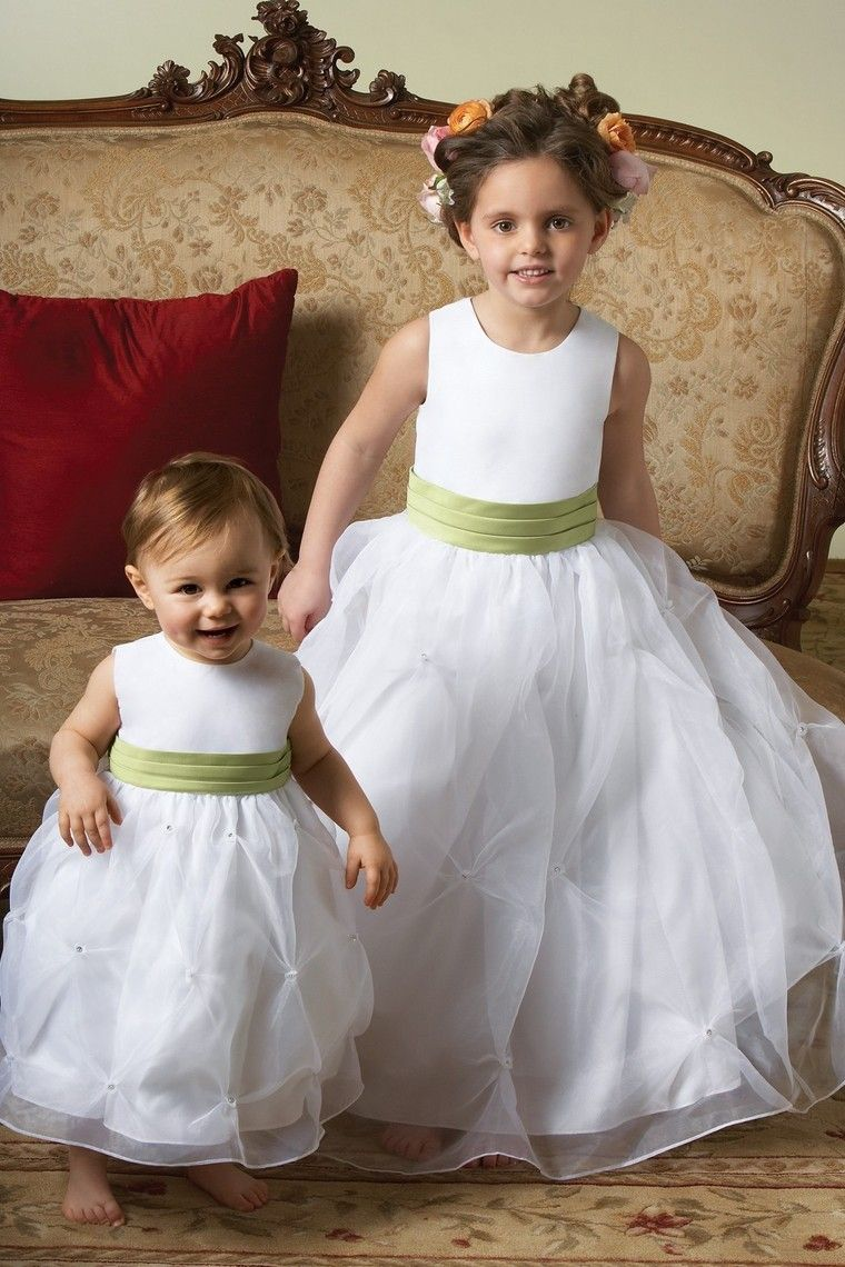 New Arrival Flower Girl Dresses Ball Gown Scoop Floor Length Organza
