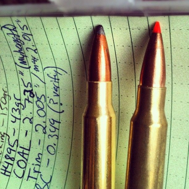 Reloaded 308 with Hornady VMAX and Sierra GameKing bullets