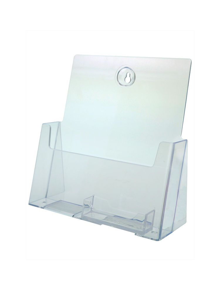 Catalog Display Stand with Business Card Wall Mount or Counter Clear ...