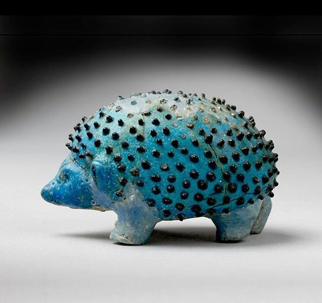 ashmoleanmuseum:  Happy #EarthDay! This is a littleEgyptian faience model of a hedgehog from a tomb at Abydos, made around 1,500–1,300 BC.