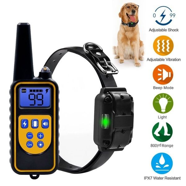 800m Remote Control Pet Dog Training Collar With 99 Levels Of