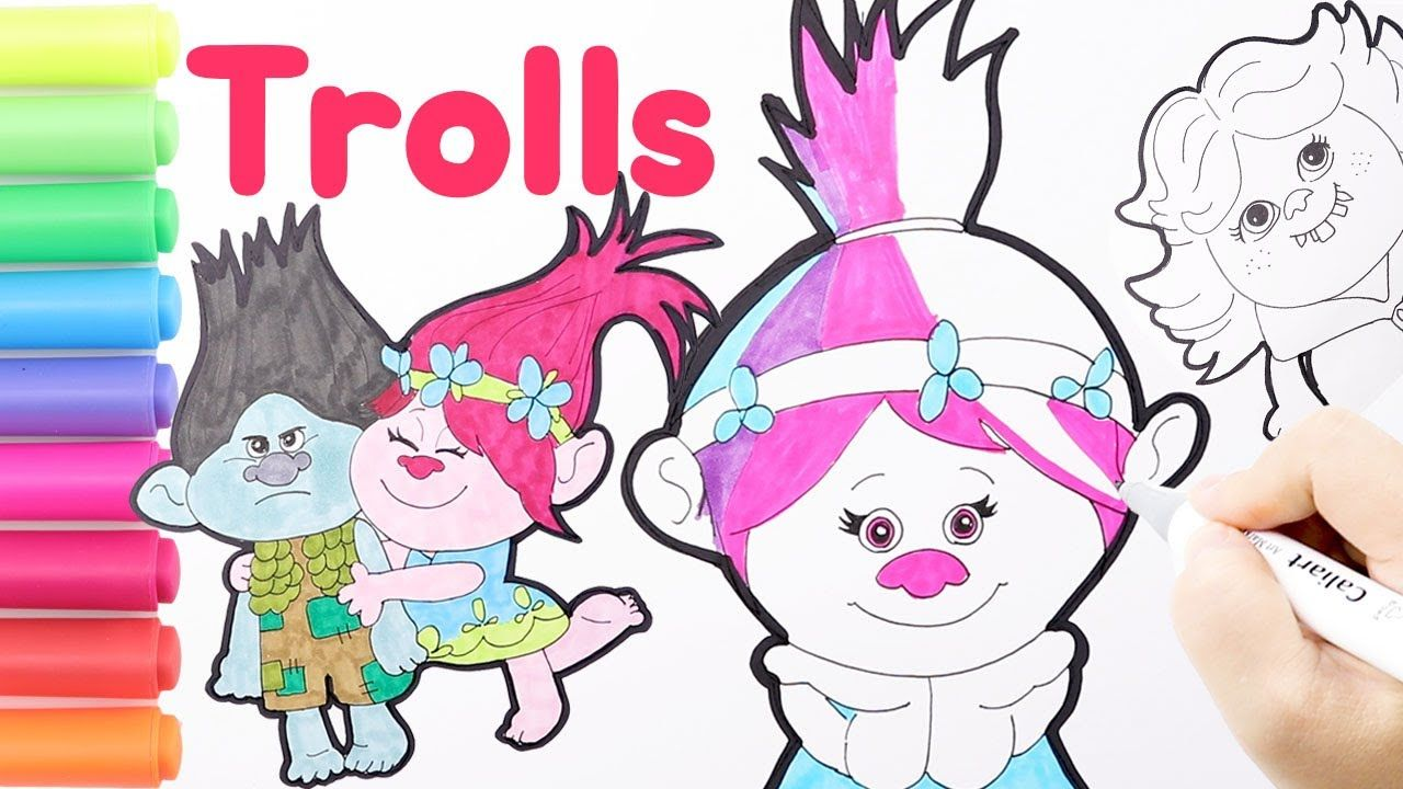 Coloring Poppy Queen Barb Trolls 2 World Tour Coloring Page How To D Art For Kids Branch Trolls Coloring Pages