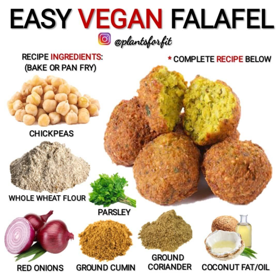 Health Advice Vegan Recipes On Instagram Easy Vegan Falafel Recipe Tag Someone Who Needs To Do In 2020 Hclf Vegan Recipes Vegan Recipes Vegetarian Vegan Recipes