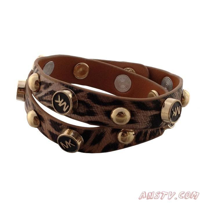 MK5651 Michael Kors Tiger Tattoo Leather MARRON Bracelet