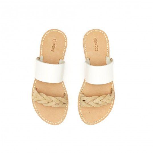 Leather Braided Slide Sandal