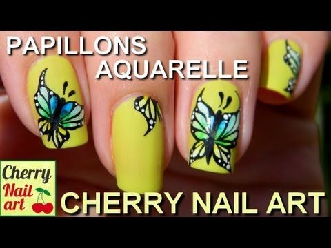 Nail Art Papillons Aquarelle Et Acrylique Nail Art Papillon Art