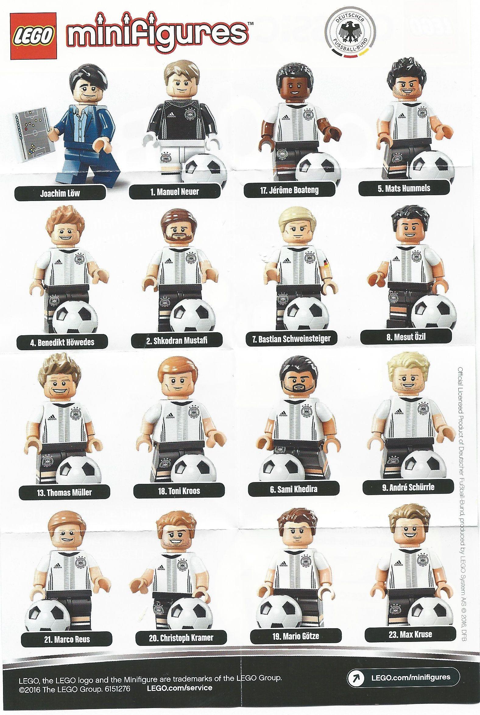 Lot Of 9 LEGO 71014  DFB German Soccer Team Minifigures