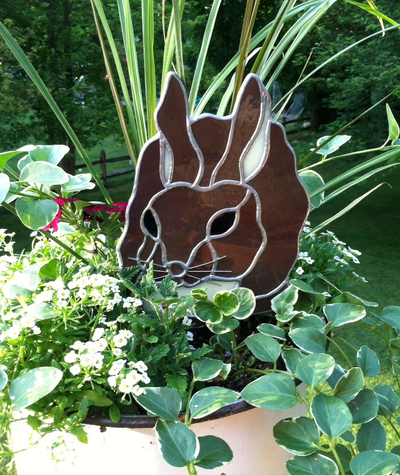Our Bunny Nugget Immortalized In Glass