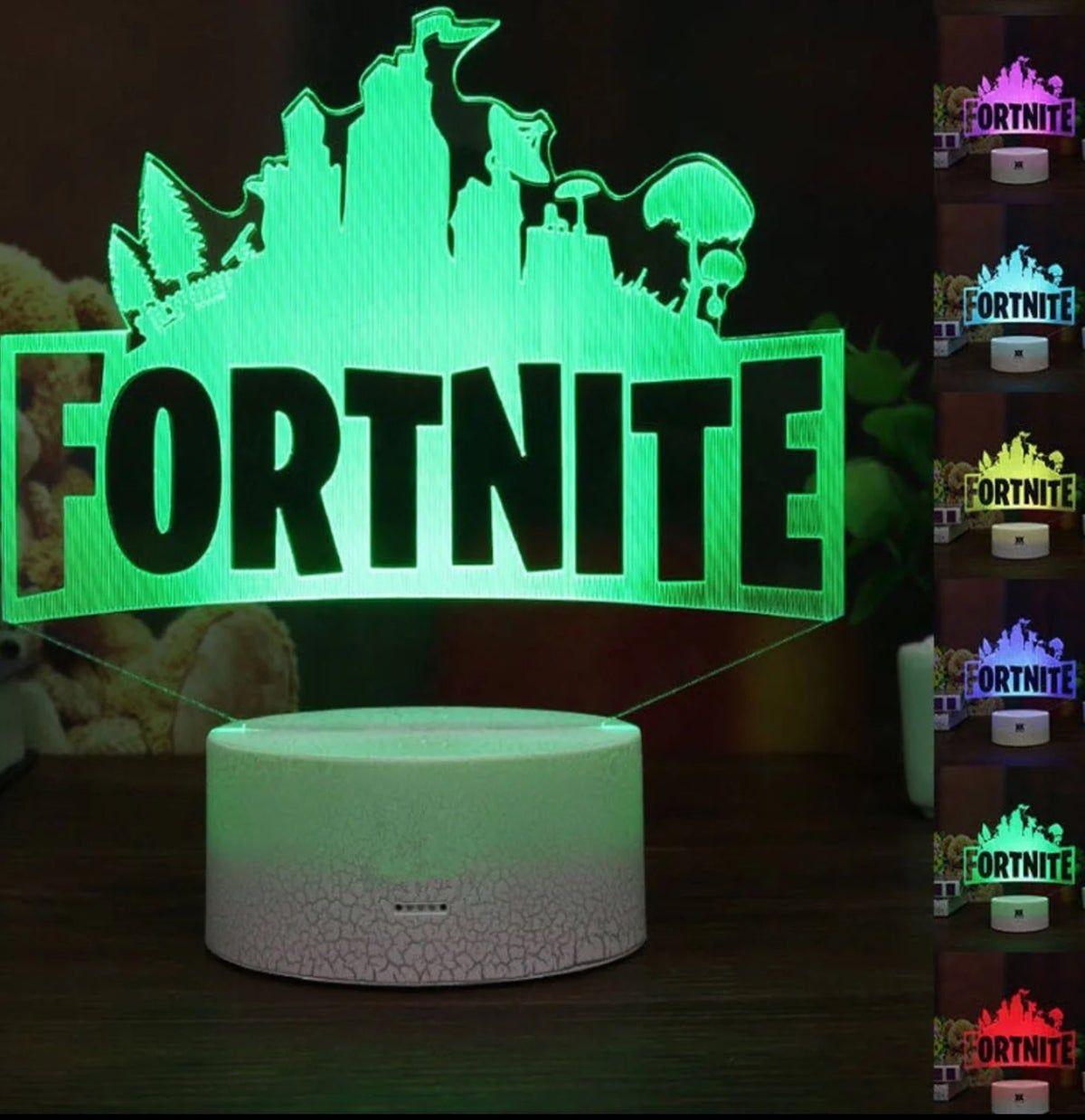Fortnite 3d Gaming Xbox Led Lamp Nightli In 2020 3d Led Night Light Led Night Lamp Led Night Light