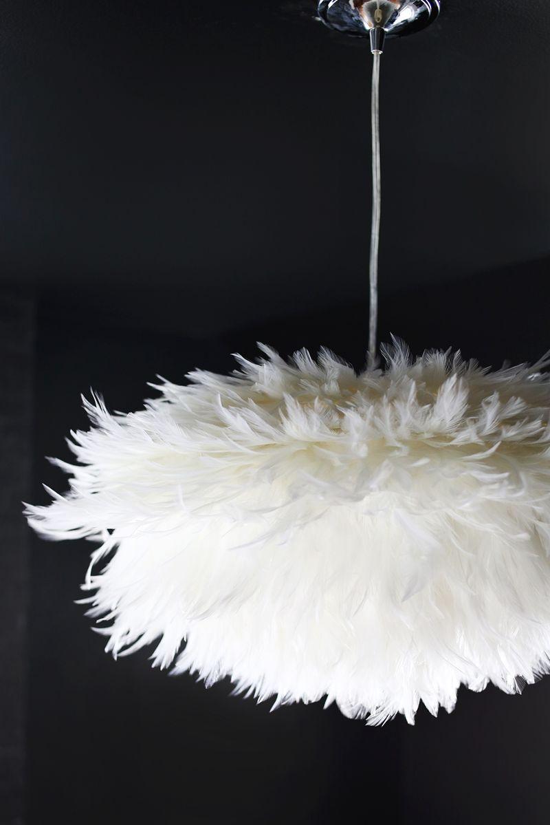 diy feather pendant  federlampe diy lampen und diy sachen