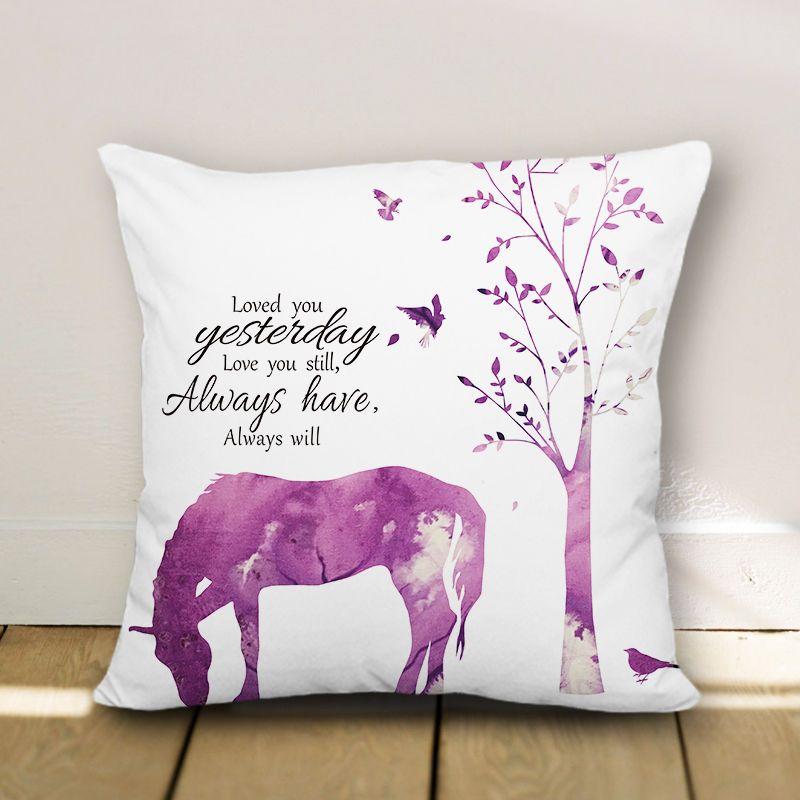 Horse Pillow Case Decorative Throw Pillowcase Cushion