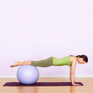 Research shows that abdominal exercises done on the stability ball activate twice as many core muscles as classic belly toners like the crunch and the sit-up. #fitness