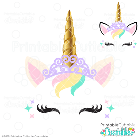 Princess Unicorn Face Free SVG File Free SVGs for