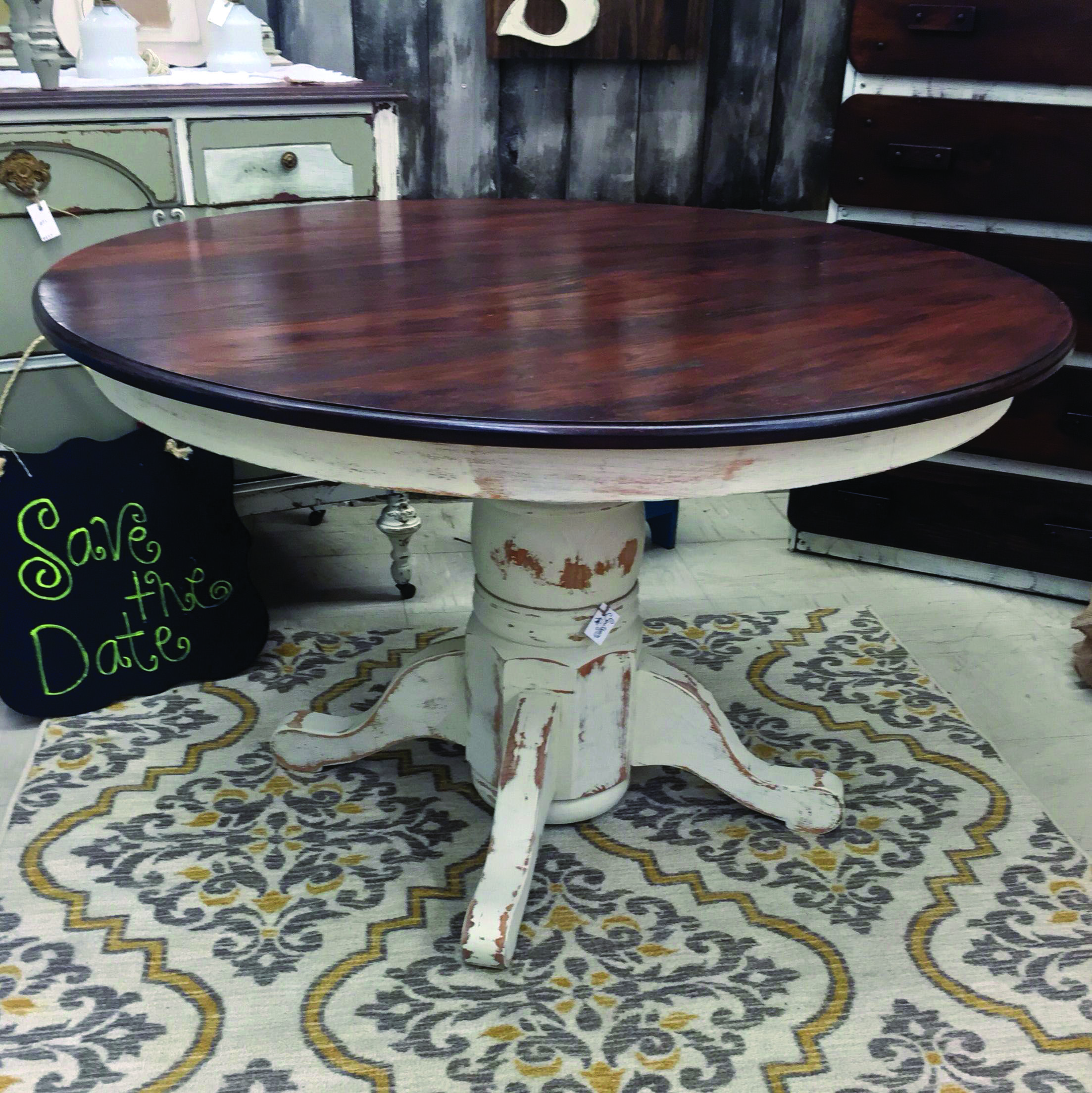 8 Small Cooking Area Table Suggestions For Your Property Painted Kitchen Tables Kitchen Table Redo Dining Table Makeover